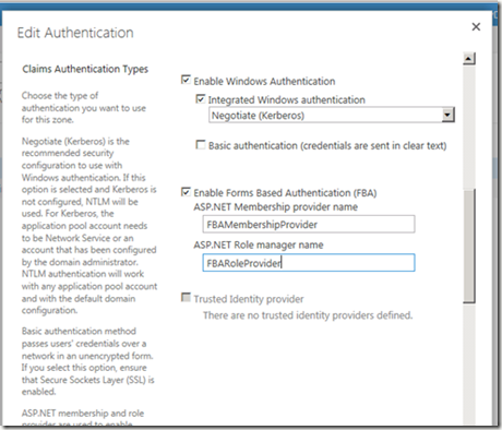SharePoint 2013 Forms Based Authentication (FBA) | Random
